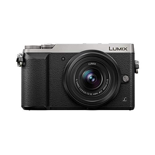 Panasonic Lumix GX80K   Appareil Photo Hybride Compact + Objectif Lumix 12-32mm (Capteur 4/3 16MP, Double stabilisation, Viseur, Écran inclin. tact., AF DFD, Vidéo 4K) Silver – Version Française