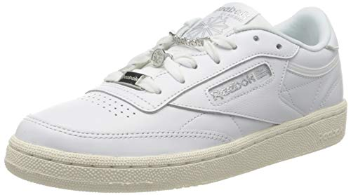 Reebok Club C 85, Gymnastics Shoe Mujer, White/Silver Met./Pure Grey 3, 40...