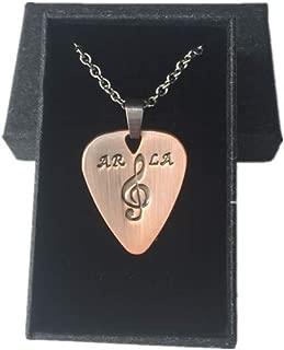 Red Copper Guitar Pick/Guitar Pick Necklace Pick/Personalized Fashinable Guitar Picks/Pendant Plectrum,2PCS Chains