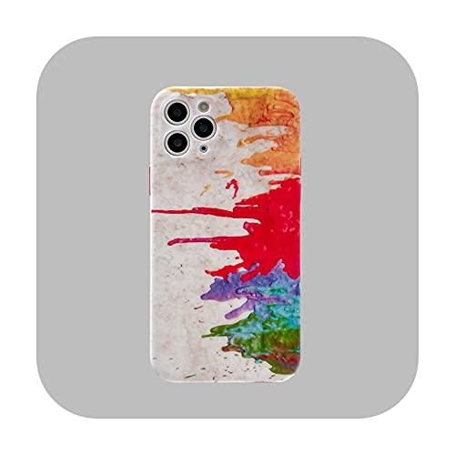 Lujo original arte acuarela a prueba de golpes caso para iPhone 12 11 pro mini x XR XS Max 7 8 más 8plus suave silicona líquida cubierta Ban SC-para iPhone 12 mini