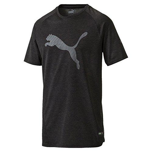 PUMA Herren A.C.E Cat Tee T-Shirt, Black Heather, M