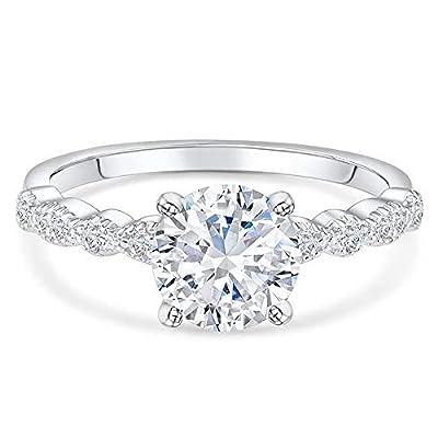 Blocaci 1-1/5 Carat (ctw) Engagement Rings for Women Moissanite 10K 14K 18K Gold 925 Sterling Silver Wedding Anniversary Rings (10K Gold)