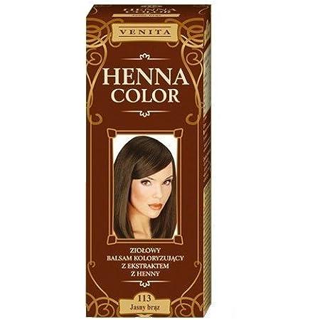Henna Color 113 Ligero Braun Bálsamo Capilar Tinte Para Cabello Efecto De Color Tinte De Pelo Natural Gallina Eco