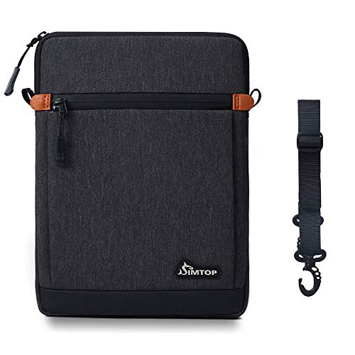 SIMTOP 11 Inch Tablet Shoulder Messenger Bag 10.5 Inch Tablet Sleeve Compatible with 2019 New 10.2'' iPad 7/10.5'' iPad Air 3/10.5'' iPad Pro/11'' iPad Pro/9.7'' iPad/10'' Surface Go/10'' Galaxy Tab