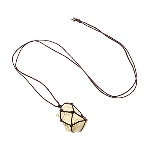 perfeclan Collar Colgante de Minerales de Cristal Natural para Mujer con Cuerda para Colgar