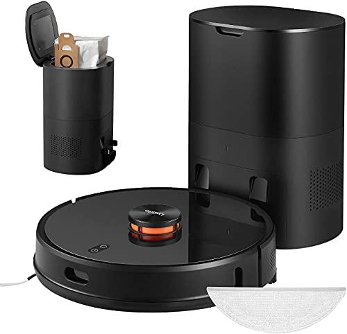 Lydsto R1 Robot aspirapolvere con funzione di asciugatura 2700Pa Serbatoio dell'acqua da 250 ml 3L stazione di aspirazione automatica per la pulizia dei tappeti con peli di animali nero