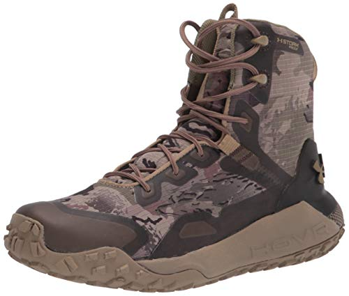 Under Armour Men's HOVR Dawn WP Hiking Boot, Ridge Reaper Camo Barren (900)/Bayou, 8