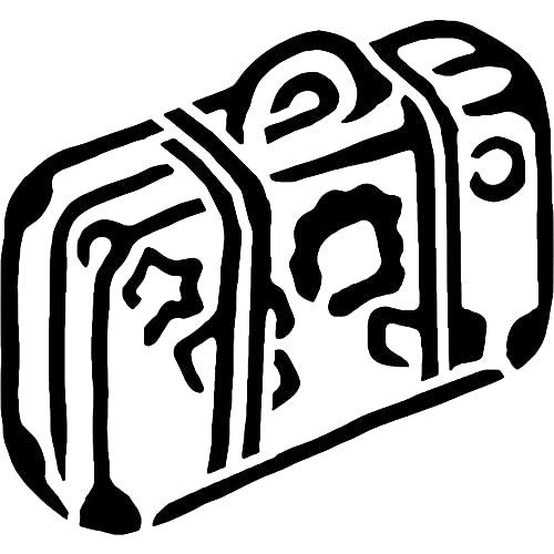 Azeeda Groß A2 'Urlaub Koffer' Wandschablone / Vorlage (WS00028637)