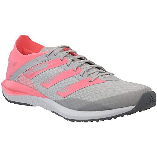 adidas Kids Girls Rapidafaito Running Sneakers Shoes - Grey - Size 4.5 M