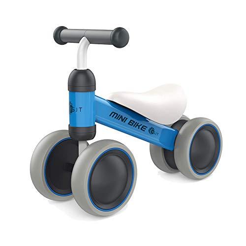 YGJT Bicicletas sin Pedales para niños 1 Año(10-18 Meses) Triciclos Bebes Correpasillos Juguetes Regalos bebé Bici sin Pedales niño (Azule)