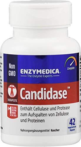 Enzymedica Candidase - Enzyme zur Verdauung von Zellulose und Proteinen - 100{ba663f36e10ab4acd6144361ae9e99c167201693703e1fc4c08fba3d3a8fa765} vegan und ohne Füllstoffe - 42 Kapseln - laborgeprüft