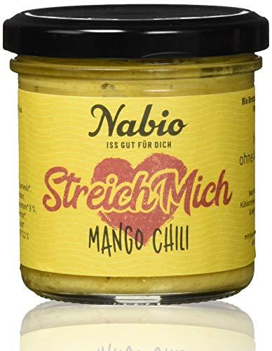 Nabio Mango Tango Brot-Aufstrich Mango Chili, 6er Pack (6 x 130 g)