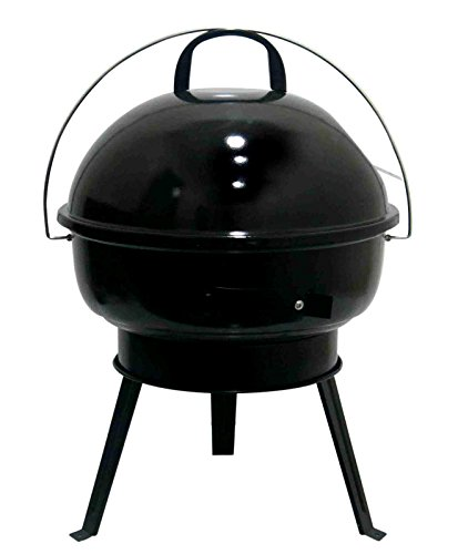 Fabrilla Round Charcoal Barbeque Grill Set with Legs (Black)