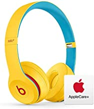 Beats Solo³ Wireless On-Ear Headphones - Apple W1 Chip - Club Yellow with AppleCare+ Bundle