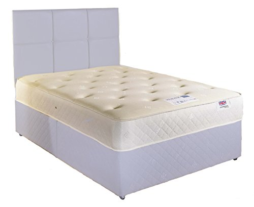 king size (5ft) Cooltouch 9-10' Deep memory foam mattress with open coil spring system