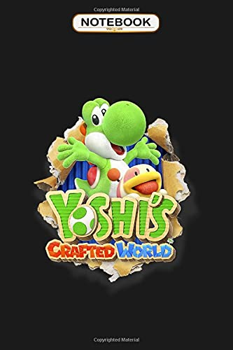 Notebook: Yoshi's Crafted World Poochy Burst Game Logo Graphic , Wide ruled 100 Pages Bank Lined Paperback Journal/ Composition Notebook