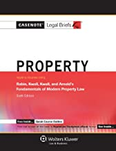 Casenote Legal Briefs: Property Keyed to Rabin, Kwall, Kwall & Arnold, 6th Edition