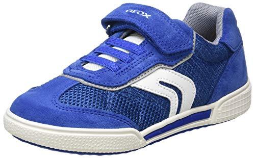 Geox J POSEIDO Boy D, Sneakers Basses, Bleu (Royal/Grey C0299), 31 EU