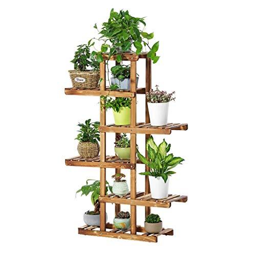 ZhaoLiRuShop Plante Jardinière Support Multi-Couche en Bois Jardinière Balcon Salon Support De Rangement Au Sol Intérieur Plante Jardinière (Color : Brown, Size : 62 * 26 * 130cm)