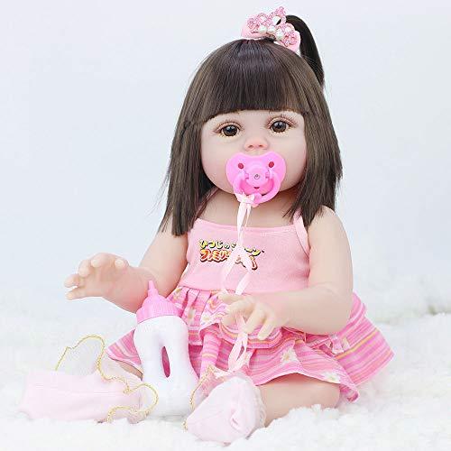 ZYHA Reborn Bambola Femmina 21 Pollici 53 cm Vinile Morbido Silicone Vita Reale,Compagno di Giochi per Bambini,Bambole Regalo Giocattolo Magnetico per Bambini