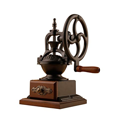 SMQHH Manual Coffee Bean Grinder Vintage Antique Wooden Hand Grinder Coffee Grinder Roller Best for Drip Coffee Espresso French Press Cold
