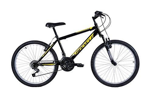 Biocycle Anexo susp 24' Bicicleta de Montaña, Niños, Negro, S