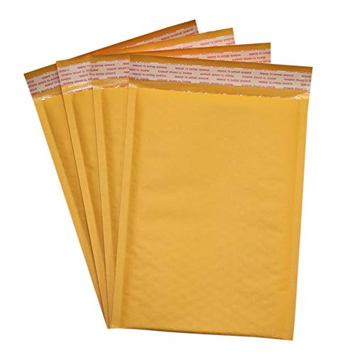 Secure Seal #00 5x10 Kraft Bubble Mailers Padded Shipping Envelopes (Pack of 250)