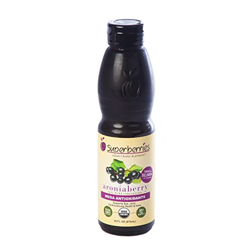 Organic Aroniaberry (Chokeberry) Juice Concentrate 16 Fl. Oz
