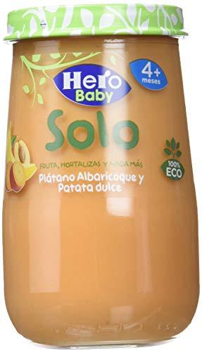 Hero Baby Solo Tarrito de Puré de Plátano, Albaricoque y