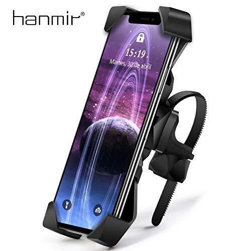 Soporte Movil Bicicleta hanmir Soporte Movil Moto Bicicleta Anti Vibración con 360° Rotación Universal Manillar para iPhone 11 Pro MAX/XS MAX/XR, Samsung S10/S9 y Otro 3.5-6.5' Móvil (Versión Nueva)