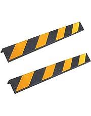 SNS SAFETY LTD Rubberen Beschermers, 8 mm Dik, voor Parkeerplaatsen en Magazijnen, 80 x 10 x 10 cm, Zwart Geel (2 stuks)
