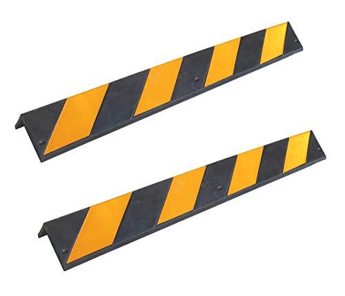 SNS SAFETY LTD RCG-131x2 Protège-coins en caoutchouc, épaisseur 8 mm, pour parkings et entrepôts, couleur noir et jaune, dimensions 80 x 10 x 10 cm (lot de 2 pièces)
