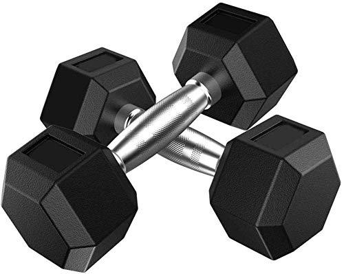 Pesas con barra hexagonal de 2 piezas de goma de la pesa de hierro sólido hexagonal con mancuernas de gimnasio / Familia Barra Disco Cuerpo 5kg de entrenamiento, 10 kg, 15 kg, 20 kg levantamiento de p