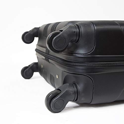 Valise Rigide Noire en ABS pour Cabine-Buenos Aires - 55cm 4 Roues pivotantes silencieuses | Serrure à Code | KINSTON