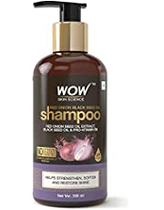 WOW Skin Science Red Onion Black Seed Oil Shampoo with Red