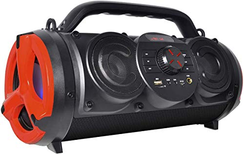 Boytone BT-18RG Portable Bluetooth Boombox Speaker, Indoor/Outdoor, 25W, Loud Sound, Deeper Bass, 5' Subwoofer, 3.25 Tweeter, FM,USB, Micro SD, AUX, Microphone, DC 5V to USB Charging Connector Cable