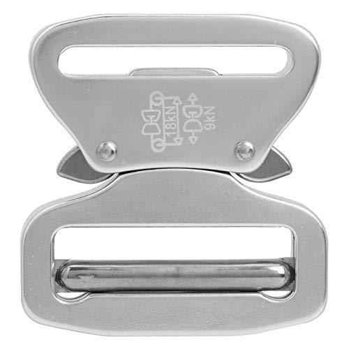 EVTSCAN Hebilla de cinturón, Hebilla de cinturón de Metal Militar de Entrenamiento para Acampar para Cintura Correa de Cintura táctica(Plata)