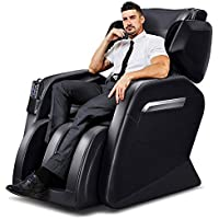 TinyCooper Zero Gravity Full Body Massage Chair with Lower-Back Heating and Foot Roller