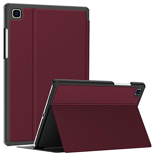 Soke Hülle für Samsung Galaxy Tab A7 10.4 (2020 Modell SM-T500 / T505 / T507), Folio Slim TPU Leder Schutzhülle Smart Cover, mit Auto aufwachen/Schlaf Passt für Galaxy Tab A7 Hülle, Wein