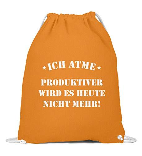 OneCode Yo respira más productiva: bolsa de gimnasio de algodón, color Naranja,...