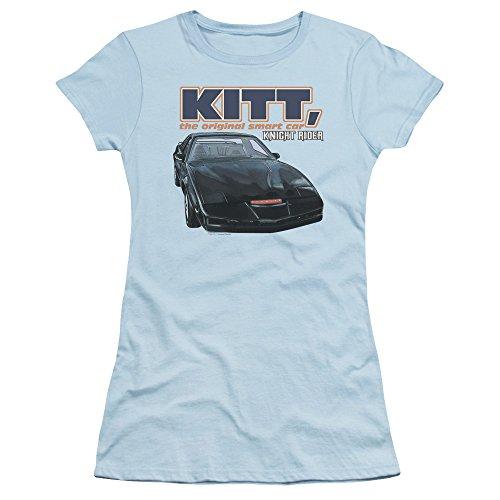 Women's Junior Fit KITT The Original Smart Car T-shirt, Light Blue
