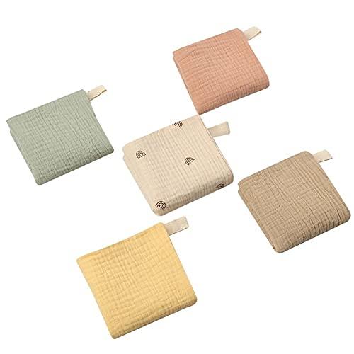 5pcs bebé alimentación toalla de gauze suave toalla de baño recién nacido saliva toalla #2233 (Color : 5pcs style 2)