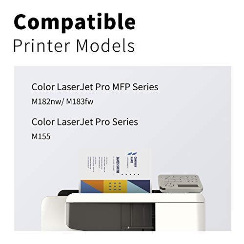 LEMERO SUPERX Toner |Kein Chip| Kompatibel für HP 216A W2410A für HP Color Laserjet Pro M155 MFP M182nw M183fw(1xSchwarz)
