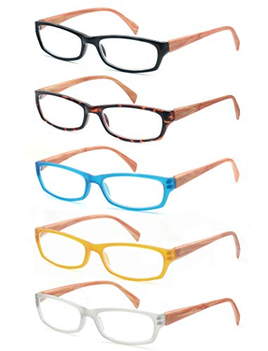 MODFANS (5 Pack) Lesebrille 1.0 Herren Damen,Gute Brillen,Hochwertig,Mode,Komfortabel,Super Lesehilfe,fur Frauen