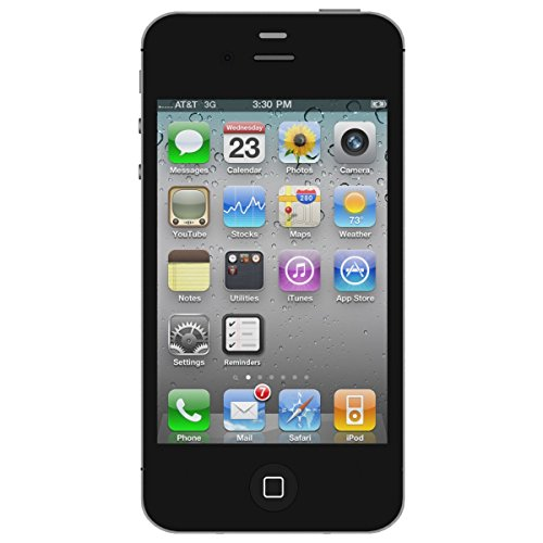 Apple iPhone 4S Noir 16Go Smartphone Débloqué (Reconditionné)