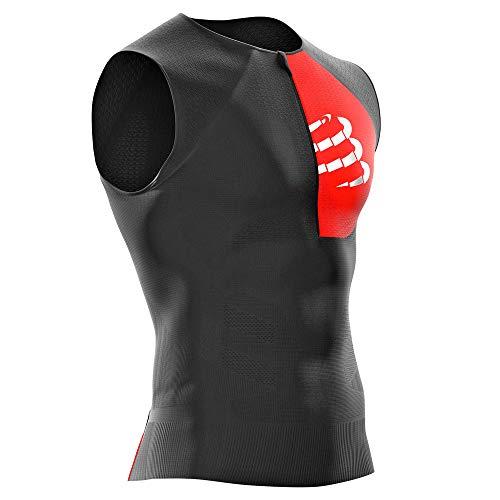 Compressport - Canottiera da Triathlon Unisex, Unisex - Adulto, Serbatoio per Triathlon, CS3TSTRIV3TK99T3, Nero, T3