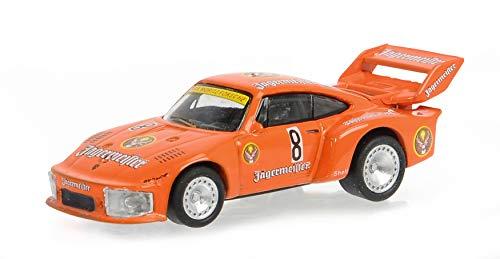 Schuco 452650100 Porsche 935 Jägermeister #8, Motorsport Design, Modellauto, Maßstab 1:87, rot