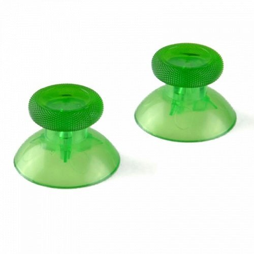 Vivi Audio® 2 Analog Thumbstick Thumb sticks for Xbox One 1 Controller Color Transparent Green