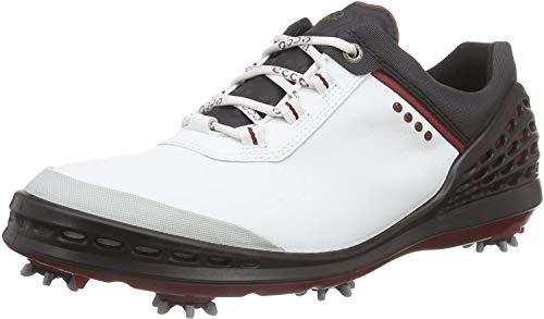 EccoECCO MEN'S GOLF CAGE - Zapatos de Golf Hombre, Blanco (White / Black), 42