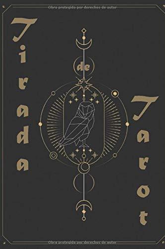 Tirada de Tarot: | Libro de tiraje de Tarot y Oráculo  | Carnet de 120 cartas pre-rellenadas para completar | Tamaño 15,24 x 22,86 cm | Genial para regalo